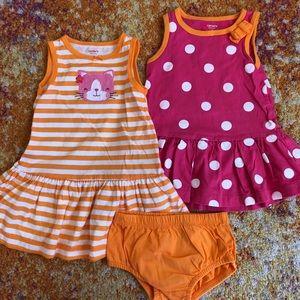 Carter's Girl's Polka & Stripe Dresses   9 months
